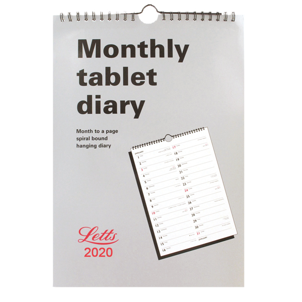 Letts Monthly Tablet Calendar 2020 20-TMT