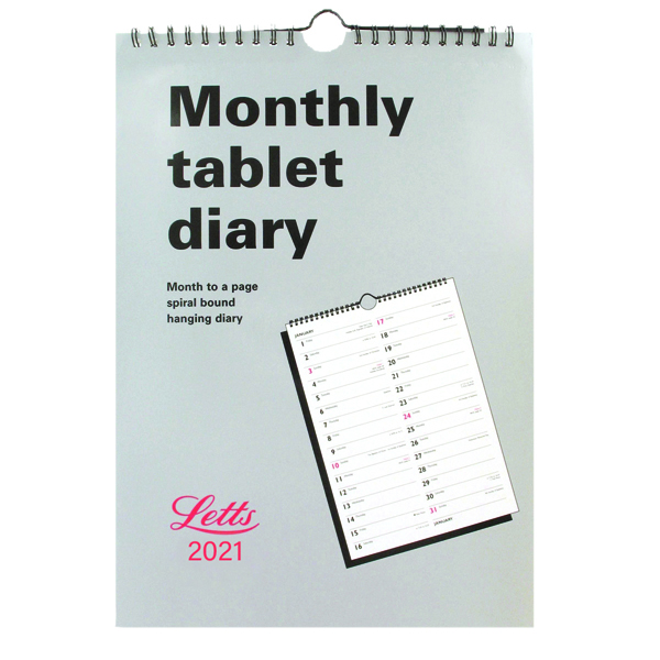 Monthly Letts Monthly Tablet Calendar 2021 21-TMT
