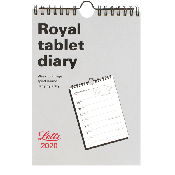 Unspecified Letts Royal Tablet Calendar A5 2020 20-TRT