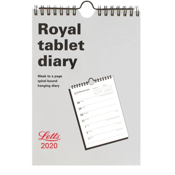 Letts Royal Tablet Calendar A5 2020 20-TRT