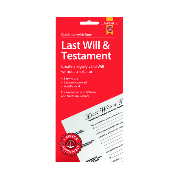 Various Law Pack Last Will and Testament Pack (5 Pack) F320