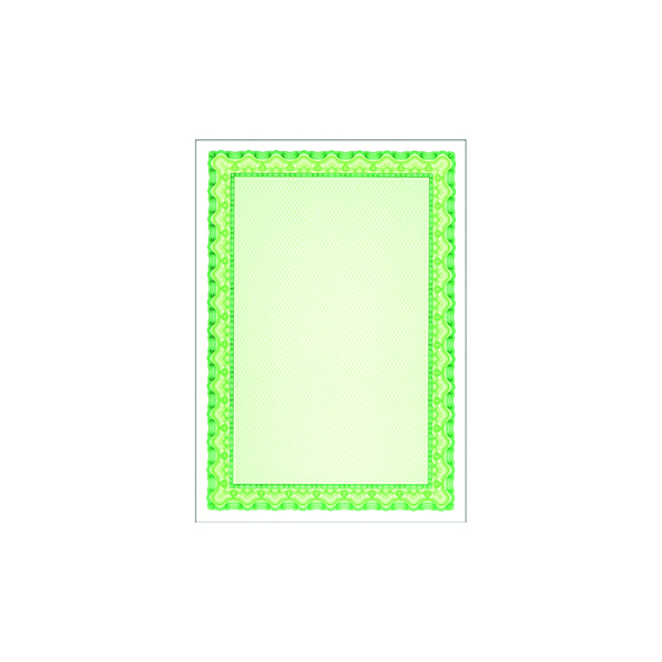Miscellaneous Decadry Certificate A4 Paper 115gsm Emerald Green (25 Pack) OSD4054