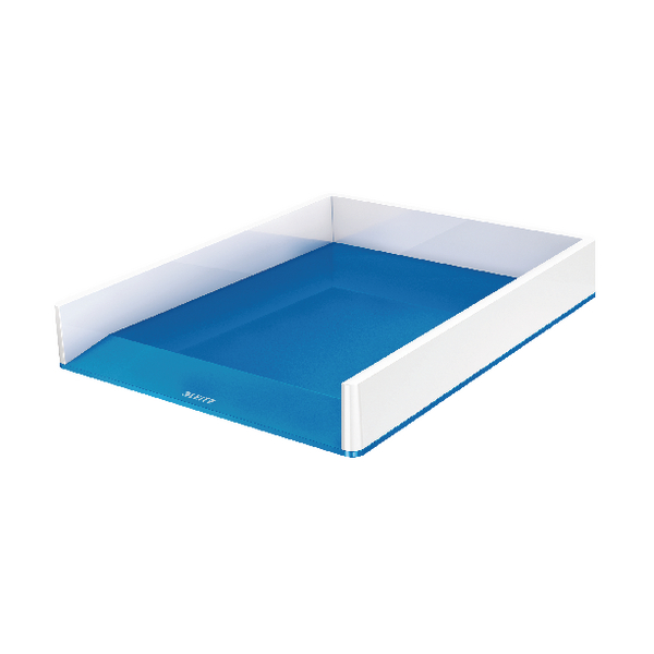 Leitz WOW Letter Tray White/Blue 53611036