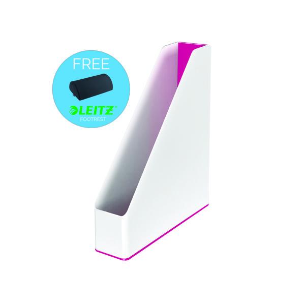 Leitz WOW Magazine File White/Pink 53621023
