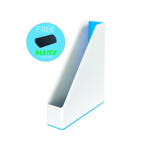 Leitz WOW Magazine File White/Blue 53621036