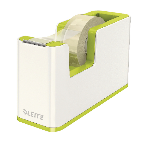 Leitz WOW Tape Dispenser White/Green 53641064