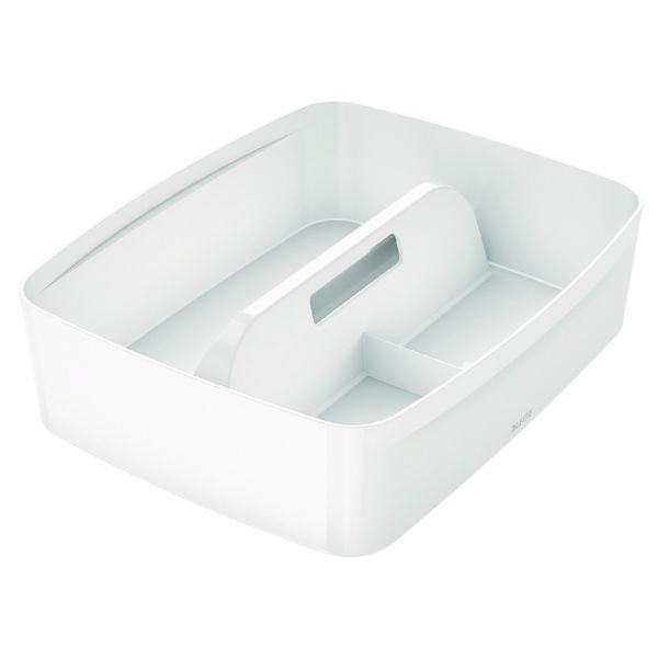 Leitz MyBox Organiser Tray With Handle Large White 53220001