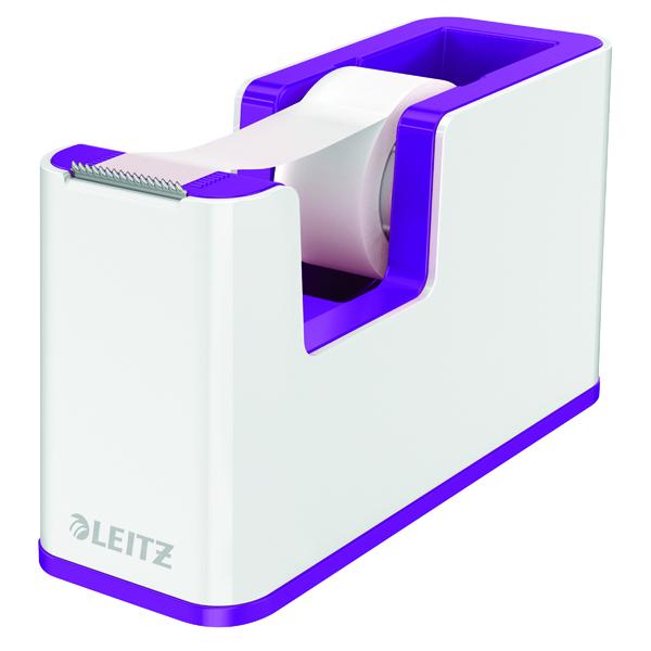 Leitz WOW Tape Dispenser Dual Colour White/Purple 53641062