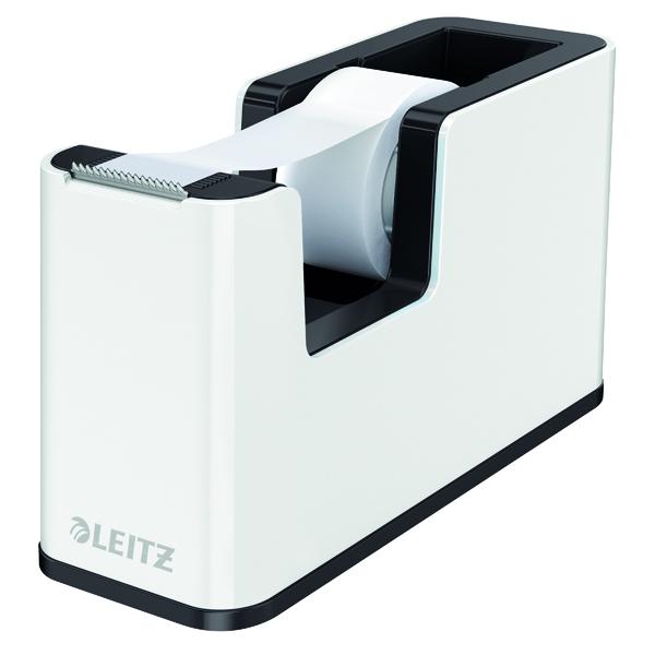 Leitz WOW Tape Dispenser Dual Colour White/Black 53641095