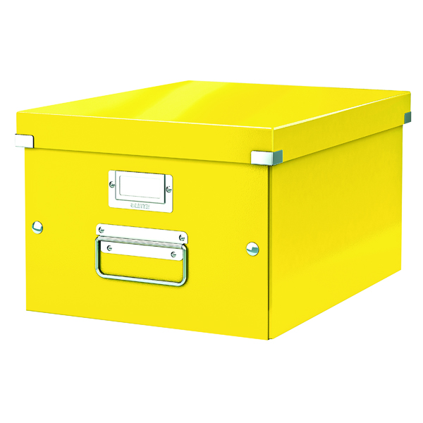 Leitz WOW Click and Store Box Medium Yellow 60440016
