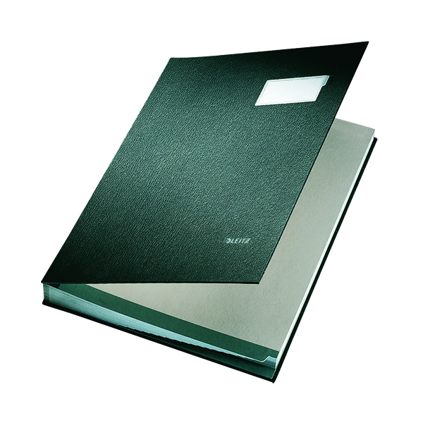Leitz Hard Cover Signature Book 240x340mm Black 57000095