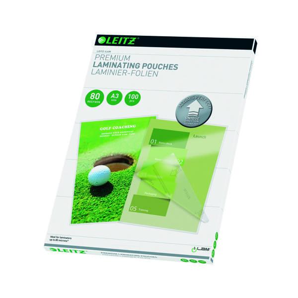 Leitz iLAM Premium Laminating Pouches UDT A3 160 Micron (100 Pack) 74850000