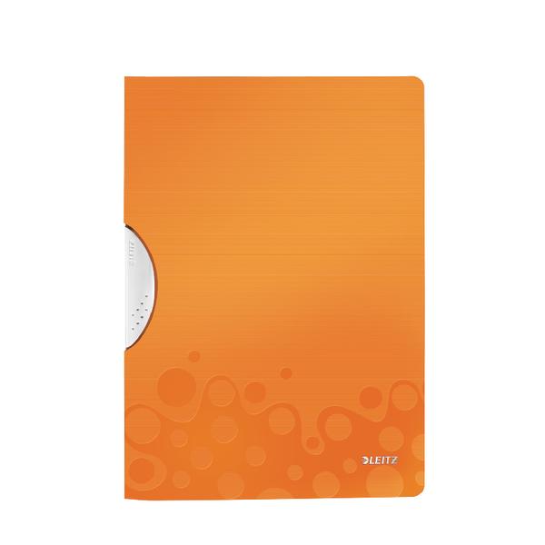 Leitz WOW A4 ColorClip Polypropylene File Orange Metallic (10 Pack) 41850044