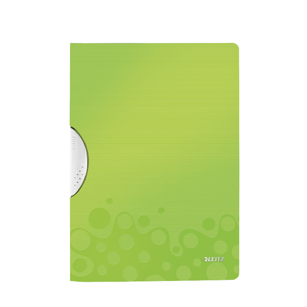 Leitz WOW A4 ColorClip Polypropylene File Green Metallic (10 Pack) 41850064