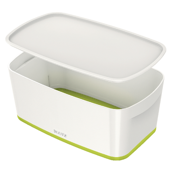 Boxes Leitz MyBox Small Storage Box With Lid White/Green 52291064