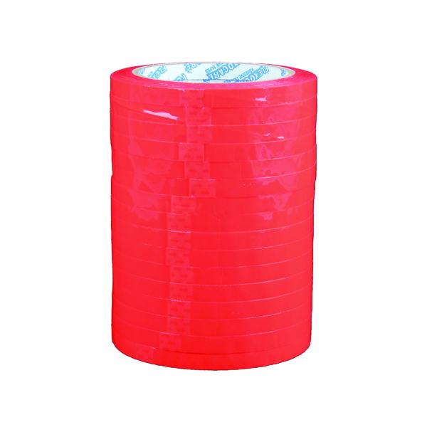 9mm Polypropylene Tape 9mmx66m Red (16 Pack) 70521252