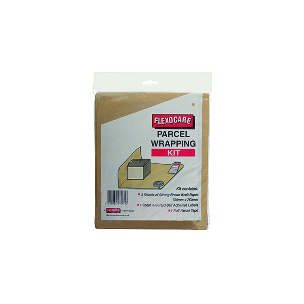 Paper Roll Flexocare Parcel Wrapping Kit Brown (24 Pack) 9739PWeek01