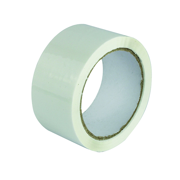 50mm Polypropylene Tape 50mmx66m White (6 Pack) APPW-500066-LN