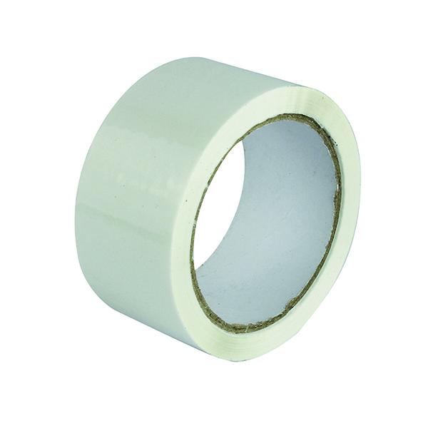 Polypropylene Tape 50mmx66m White (6 Pack) APPW-500066-LN