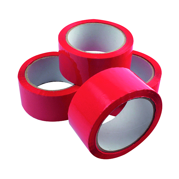 50mm Polypropylene Tape 50mmx66m Red (6 Pack) APPR-500066-LN