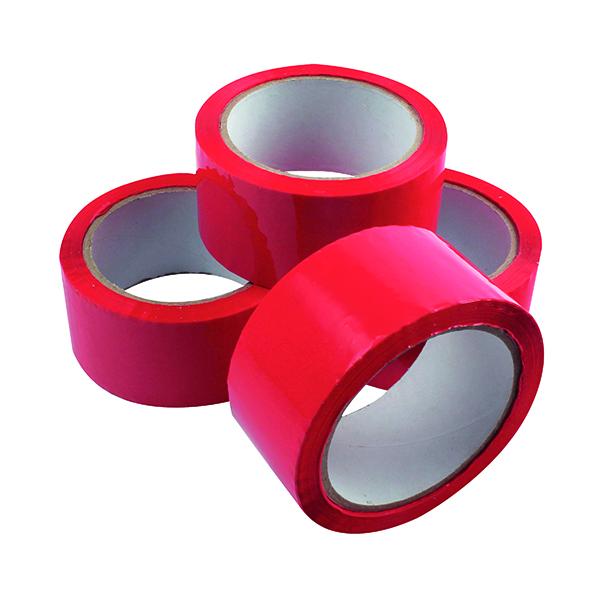 Polypropylene Tape 50mmx66m Red (6 Pack) APPR-500066-LN
