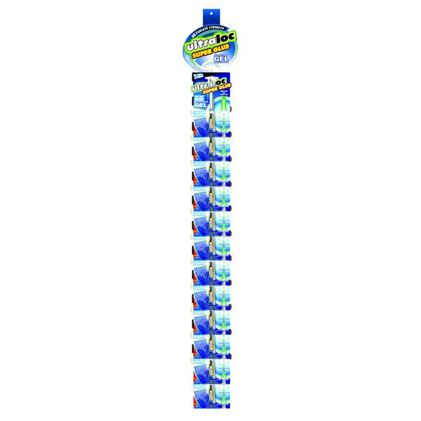 Strong Glues Ultraloc Instant Bond Gel Super Glue Clipstrip (24 Pack) SUGSNP3