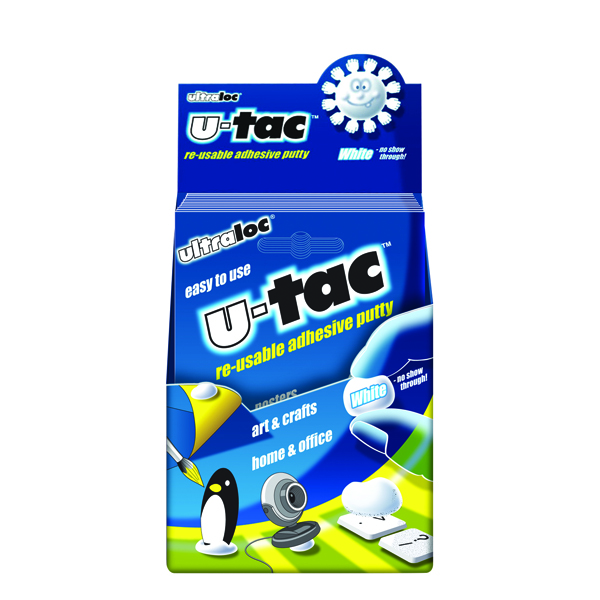 Tack Ultraloc U-Tac Re-Usable Adhesive Putty White (12 Pack) SUUT12