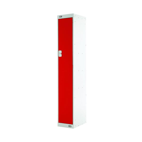 Single Compartment Locker D300mm Red Door MC00005