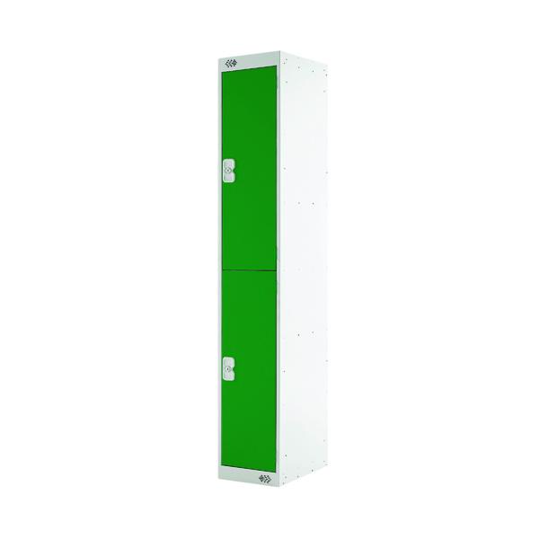 Two Compartment Locker D300mm Green Door MC00010