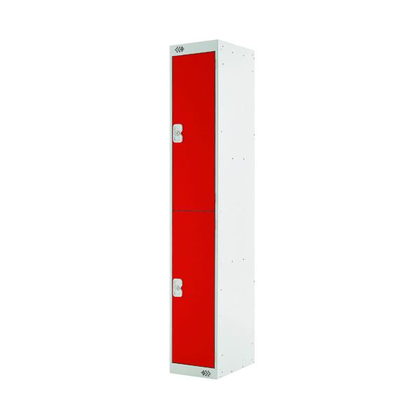 Two Compartment Locker D300mm Red Door MC00011