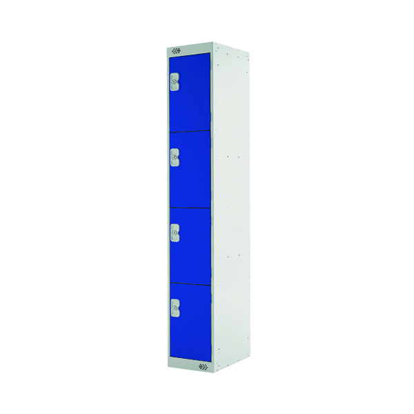 Four Compartment Locker D300mm Blue Door MC00019