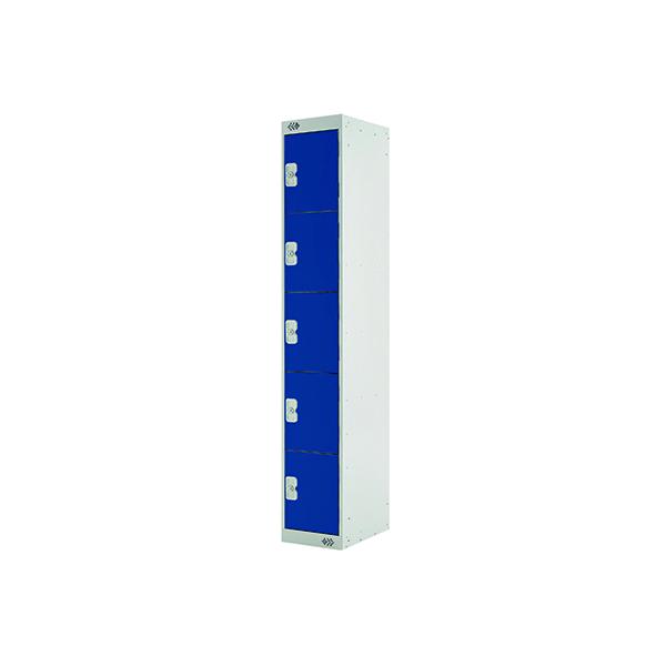 Blue Door 300mm Deep Five Compartment Locker MC00025