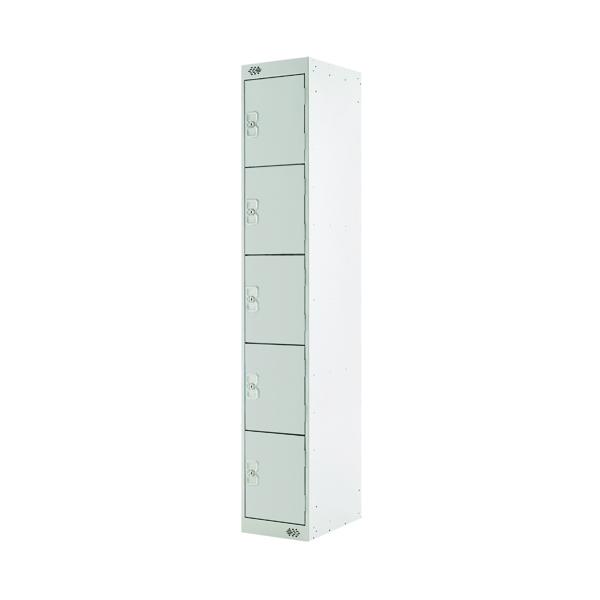 Five Compartment Locker D300mm Light Grey Door MC00026