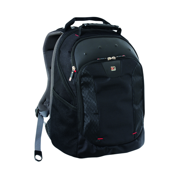 Bags Gino Ferrari Juno 16 inch Laptop Backpack Black GF501