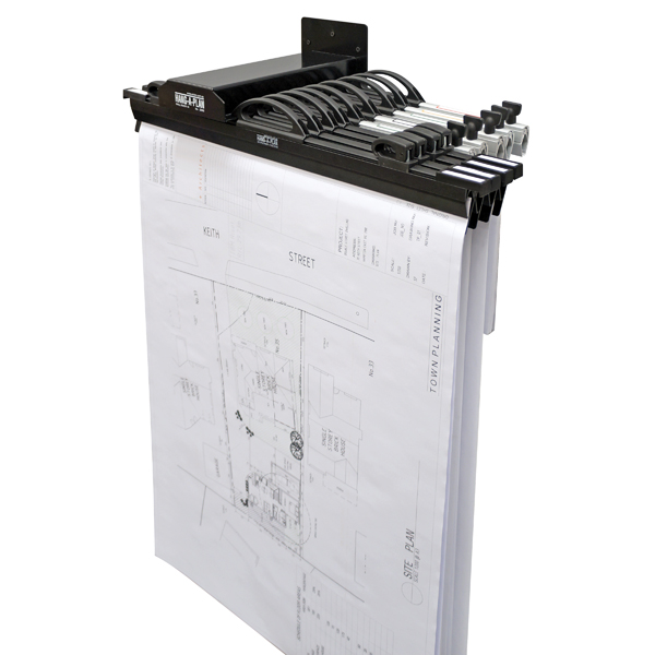 Arnos Hang-A-Plan Wall Rack for 10 Binders D065