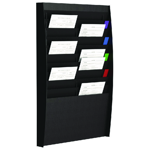 Fast Paper A4 Document Control Panel 20 Compartments Black V210.01