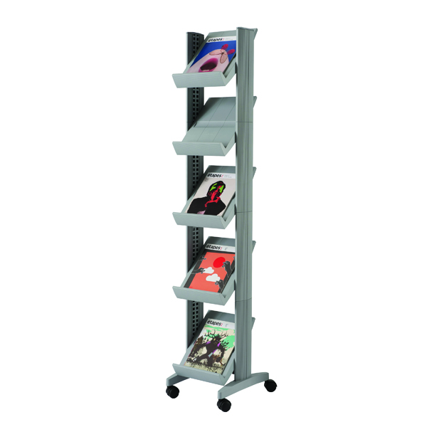 Fast Paper Mobile Literature Display Silver 259N.35