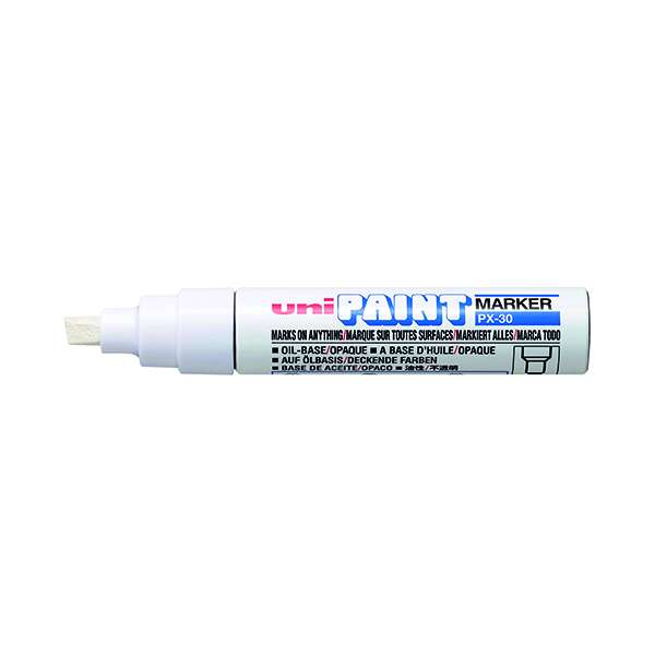 Chisel Tip Unipaint PX-30 Paint Marker Broad Chisel White (6 Pack) 151183000