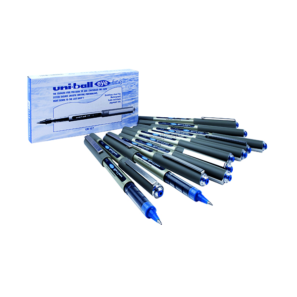 Blue Uni-Ball UB-157 Eye Rollerball Pen Medium Blue (12 Pack) 9000701