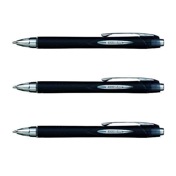 Black Uni-Ball Jetstream Retractable Rollerball Pen Broad Black 3For2 9008020