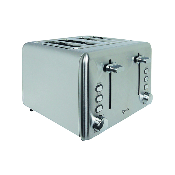 Igenix Stainless Steel 4-Slice Toaster FCL4001/H