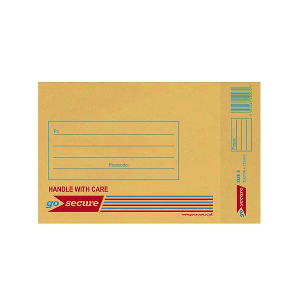 Bubble GoSecure Bubble Lined Envelope Size 3 150x215mm Gold (100 Pack) ML10042