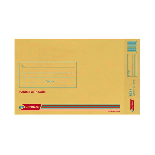 Bubble GoSecure Bubble Lined Envelope Size 7 230x340mm Gold (50 Pack) ML10054