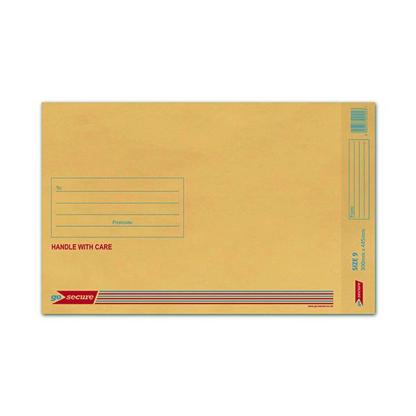 Bubble GoSecure Bubble Lined Envelope Size 9 300x445mm Gold (50 Pack) ML10058