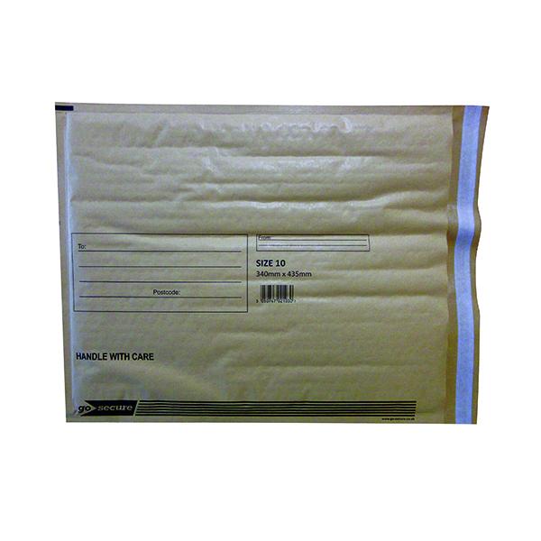 Bubble GoSecure Bubble Lined Envelope Size 10 350x470mm Gold (50 Pack) ML100062