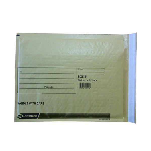 Bubble GoSecure Bubble Lined Envelope Size 8 270x360mm Gold (50 Pack) ML10066