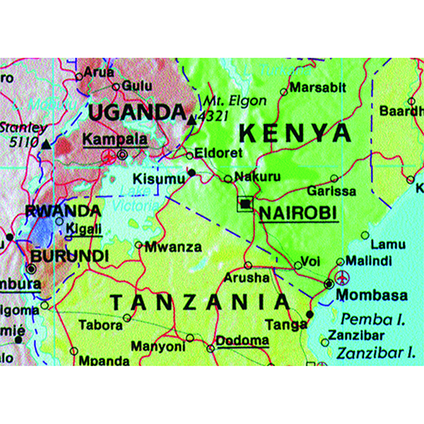 World Map Marketing Giant World Political Laminated Map GWLD