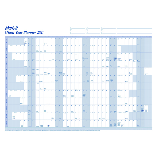 Mark-it Giant Year Planner 2021 21YP