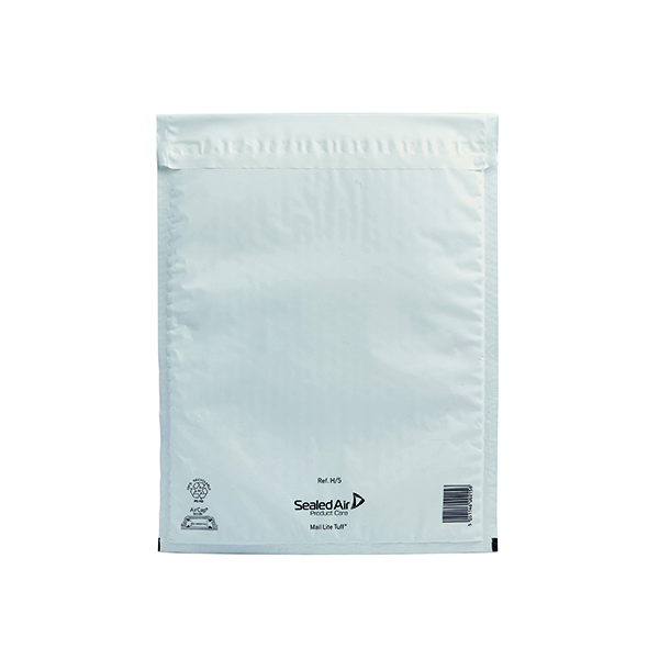 Padded Mail Lite Tuff Bubble Lined Postal Bag Size H/5 270x360mm White (50 Pack) 103015255
