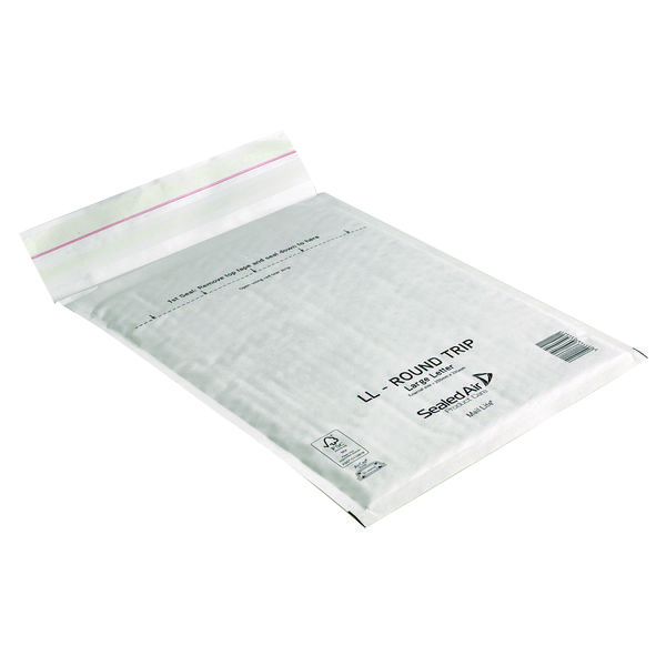 Mail Lite Round Trip Padded Mailer LL 230 x 330mm White (50 Pack) 100793739
